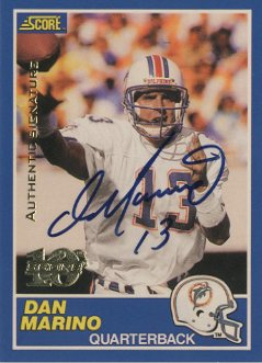 1999 Score 10th Anniversary Reprints Autographs #10 Dan Marino front image