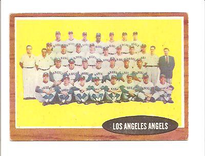 1962 Topps #132A Los Angeles Angels TC (No Inset Photos)