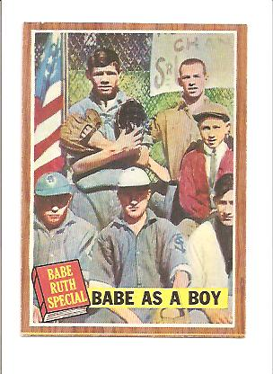 1962 Topps #135 Babe Ruth Special 1/Babe as a Boy front image