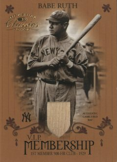 2003 Donruss Classics Membership VIP Memorabilia #1 Babe Ruth Bat/29