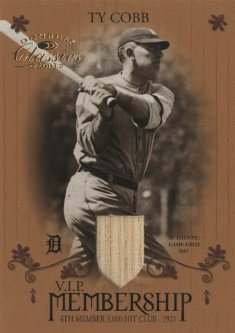 2003 Donruss Classics Membership VIP Memorabilia #12 Ty Cobb Bat/21