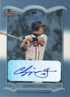 2003 Donruss Classics Significant Signatures #40 Chipper Jones/5