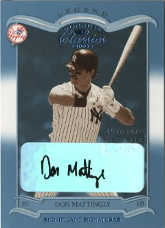 2003 Donruss Classics Significant Signatures #112 Don Mattingly LGD/15