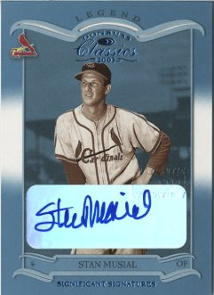 2003 Donruss Classics Significant Signatures #116 Stan Musial LGD/25