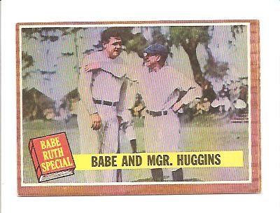 1962 Topps #137 Babe Ruth Special 3/Babe with Mgr. Huggins front image