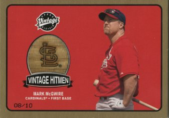 2003 Upper Deck Vintage Hitmen Gold #MM Mark McGwire