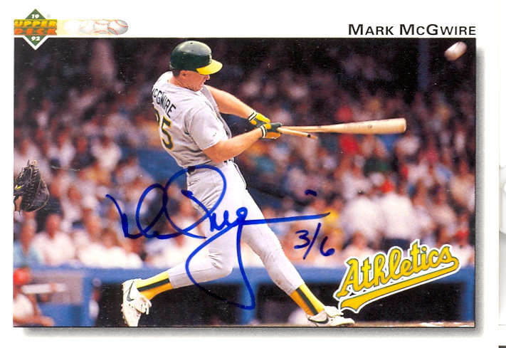 2002 Upper Deck 40-Man Mark McGwire Autograph Buybacks #6 Mark McGwire 92/6