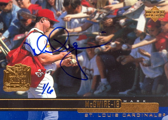 2002 Upper Deck 40-Man Mark McGwire Autograph Buybacks #31 Mark McGwire 00/6