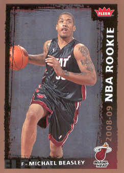 2008-09 Fleer #202 Michael Beasley RC
