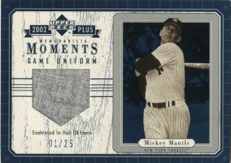 2002 Upper Deck UD Plus Memorabilia Moments Game Uniform #MMMM5 Mickey Mantle Pants