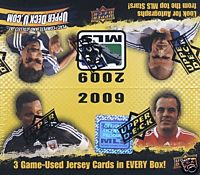 2009 Upper Deck MLS Soccer Factory Sealed Hobby Box - 3 Memorabilia Cards Per Box On Avg. & Possible Autographed Cards + A Pack Of 100 Card Sleeves - In Stock Now