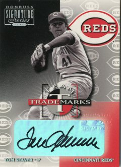 2001 Donruss Signature Team Trademarks #51 Tom Seaver/25
