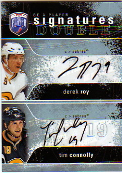 2007-08 Be A Player Signatures Duals #2SCR Derek Roy/Tim Connolly