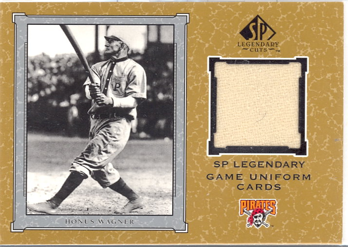 2001 SP Legendary Cuts Game Jersey #JHW Honus Wagner Uni SP