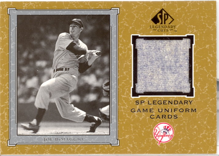 2001 SP Legendary Cuts Game Jersey #JJD Joe DiMaggio Uni SP