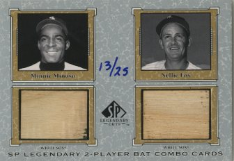 2001 SP Legendary Cuts Game Bat Combo #MMNF Minnie Minoso/Nellie Fox