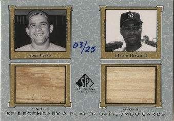 2001 SP Legendary Cuts Game Bat Combo #YBEH Yogi Berra/Elston Howard
