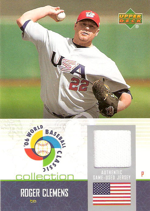 2006 Upper Deck WBC Collection Jersey #RC Roger Clemens
