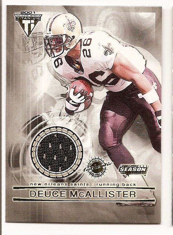 2001 Titanium Post Season Jerseys #65 Deuce McAllister