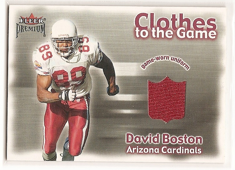 2001 Fleer Premium Clothes to the Game #3 David Boston
