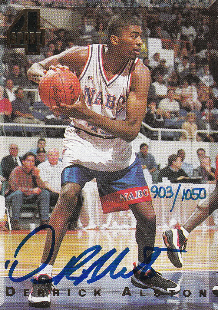 1994 Classic Four Sport Autographs #33A Derrick Alston/1050