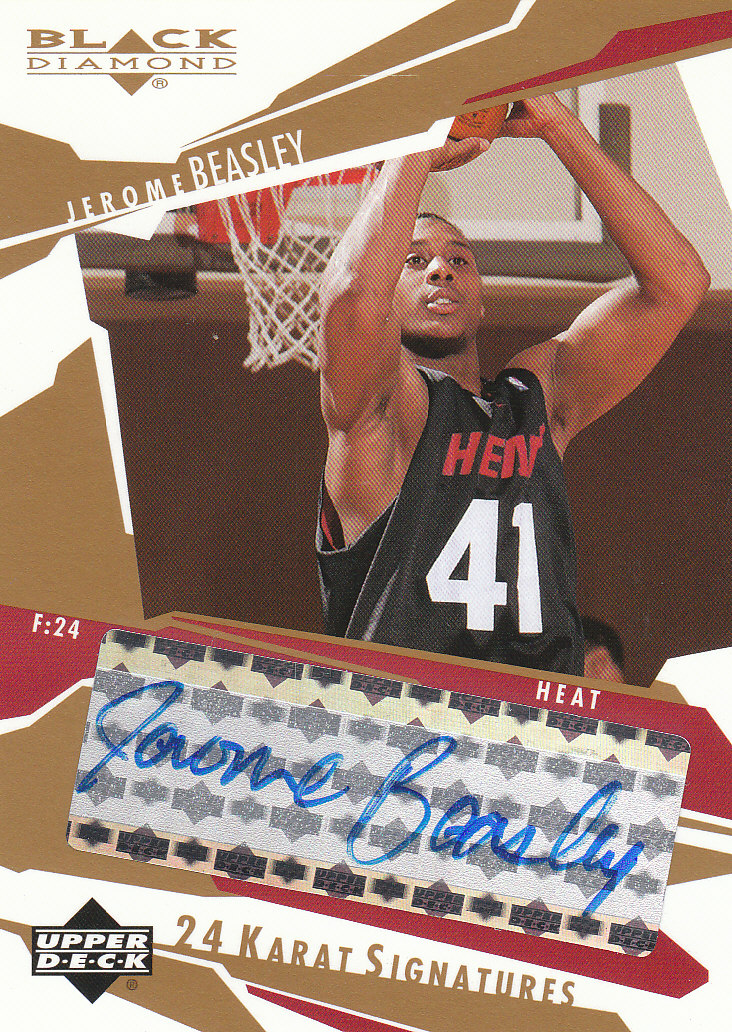 2003-04 Black Diamond 24 Karat Signatures #BE Jerome Beasley