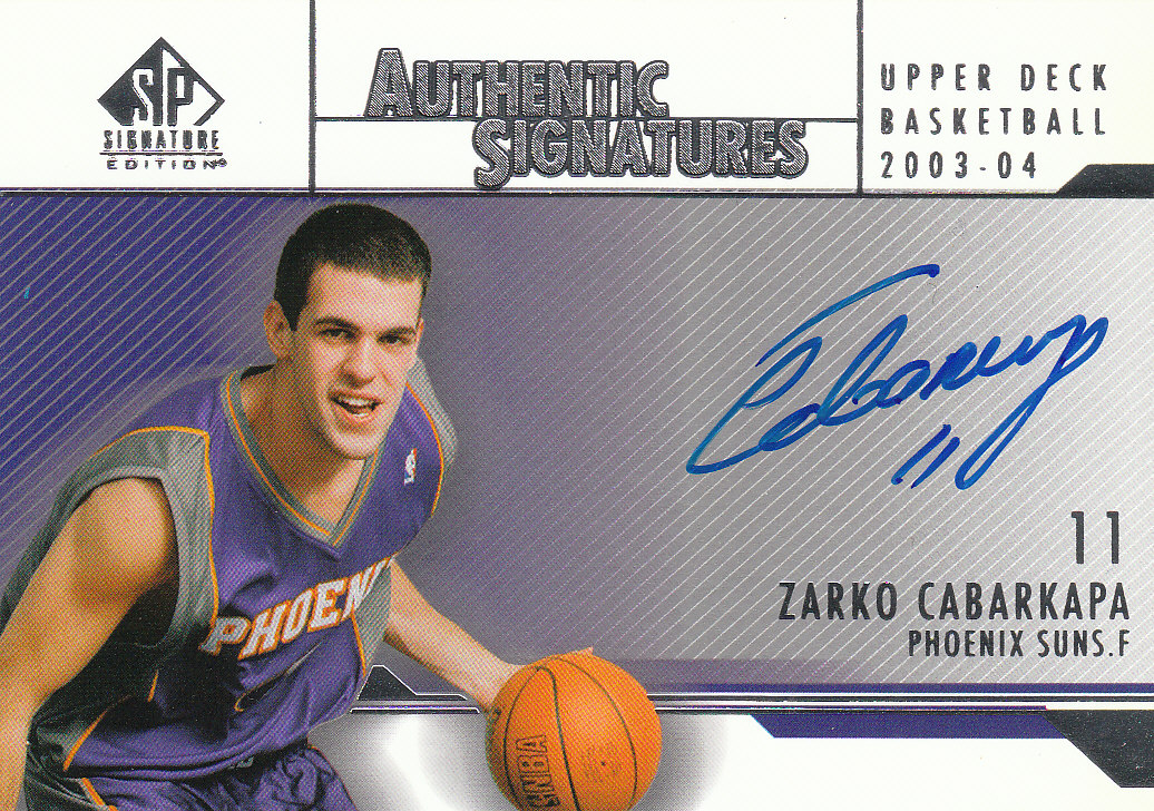 2003-04 SP Signature Edition Signatures #ZC Zarko Cabarkapa