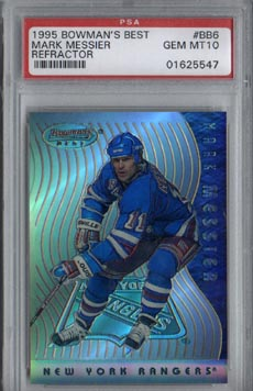 1995/96 Bowman's Best Hockey #BB6 Mark Messier Preview Refractor Gem Mint PSA 10