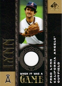 2007 SP Legendary Cuts When it Was a Game Memorabilia #FL Fred Lynn