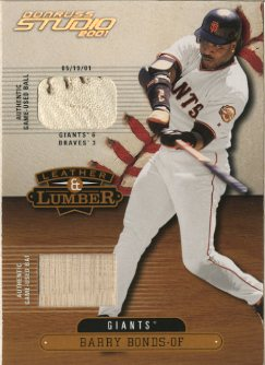 2001 Studio Leather and Lumber Combos #LL1 Barry Bonds