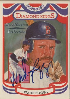 2002 Diamond Kings Recollection Autographs #4 Wade Boggs 84 DK/6