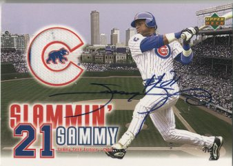 2003 Upper Deck Slammin Sammy Autograph Jerseys #SST Sammy Sosa/384