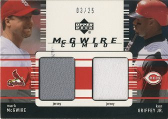 2002 Upper Deck McGwire Combo Jersey #MMKG Mark McGwire/Ken Griffey Jr.