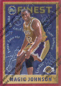 1995-96 Finest #252 Magic Johnson