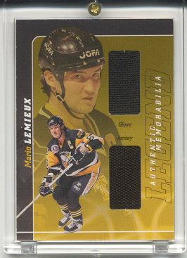 2000-01 BAP Signature Series Mario Lemieux Legend #LM3 Mario Lemieux Jsy/Glv