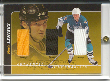 2000-01 BAP Signature Series Mario Lemieux Legend #LM5 Mario Lemieux Jsy/Jsy/Jsy