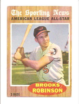 1962 Topps #468 Brooks Robinson AS front image