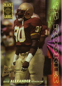 1995 Collector's Edge Rookies Black Label 22K Gold #1 Derrick Alexander DE