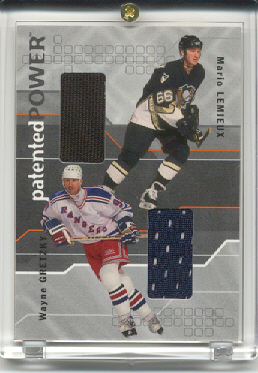 2001-02 BAP Memorabilia Patented Power #PP2 Mario Lemieux/Wayne Gretzky
