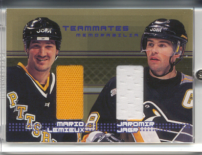 2000-01 BAP Memorabilia Update Teammates Gold #TM3 Jaromir Jagr/Mario Lemieux