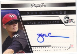 2006 TRISTAR Prospects Plus Farm Hands Autographs #30 Kyle McCulloch