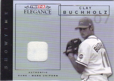 2007 TRISTAR Elegance Showtime Game Used #CB Clay Buchholz