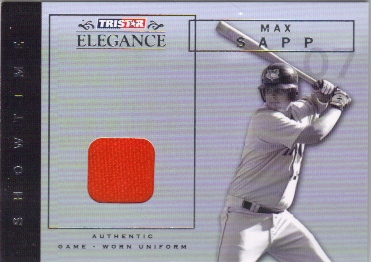 2007 TRISTAR Elegance Showtime Game Used #MS Max Sapp