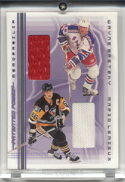 2000-01 BAP Memorabilia Patent Power Jerseys #PP1 Mario Lemieux/Wayne Gretzky