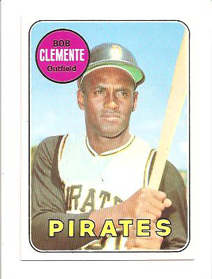1969 Topps #50 Roberto Clemente UER (Bats Right Listed Twice)