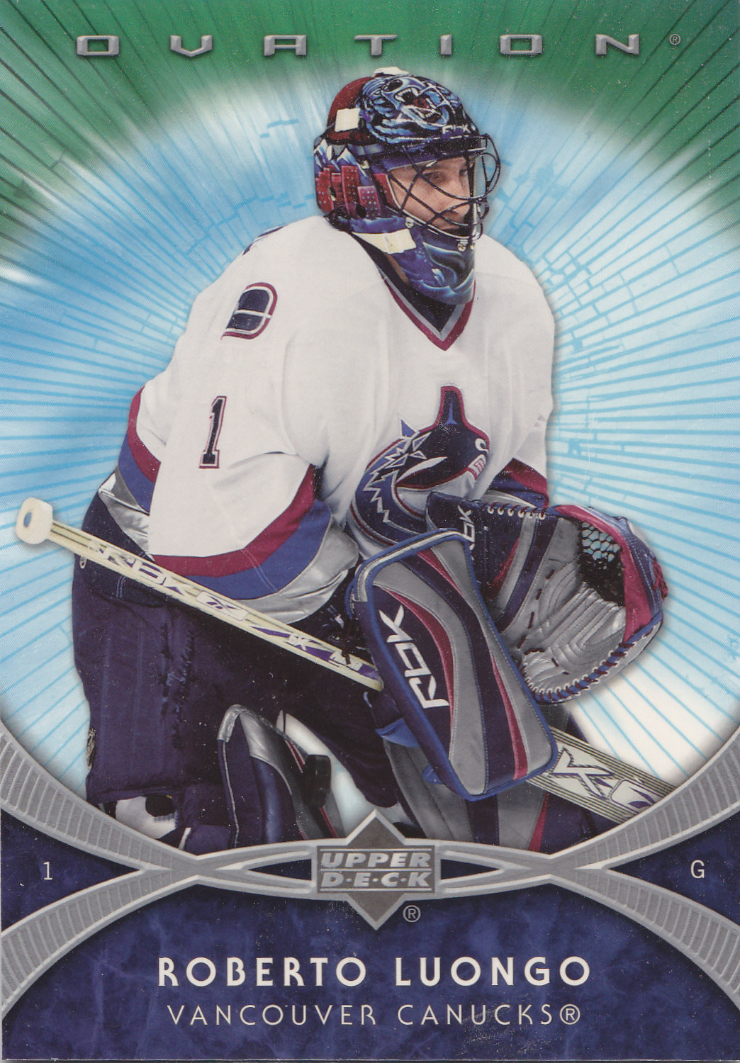 2007-08 Upper Deck Ovation 3x5s XL3 ROBERTO LUONGO