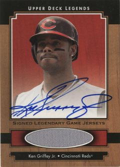 2001 Upper Deck Legends Legendary Game Jersey Autographs #SJKG Ken Griffey Jr.