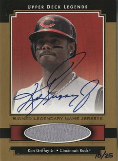 2001 Upper Deck Legends Legendary Game Jersey Autographs Gold #GSJKG Ken Griffey Jr.