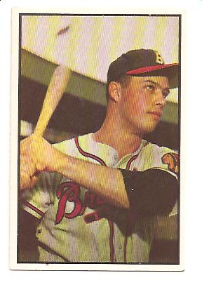 1953 Bowman Color #97 Eddie Mathews front image