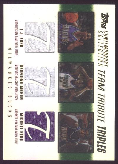 2003-04 Topps Contemporary Collection Team Tribute Triples #FMR T.J. Ford/Desmond Mason/Michael Redd